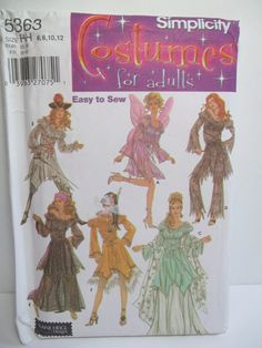 Misses' Costume Variety Simplicity 5363 Halloween by WitsEndDesign