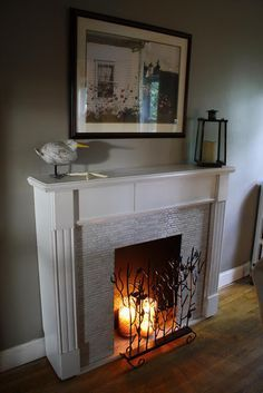 how to make a fake fireplace look real - Buscar con Google                                                                                                                                                     More