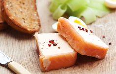 Smoked salmon terrine with cucumber and quail's eggs - Shaun Rankin
