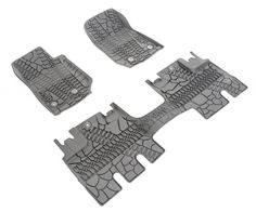 MOPAR® Floor Slush Mats with Tire Tread Pattern | Jeep Parts and Accessories | Quadratec