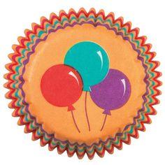 Papír. mini pečící košíčky s balónky