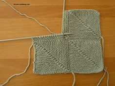 Mitered square - Bricath - Mitered square – Bricath knitting squares, there are several techniques