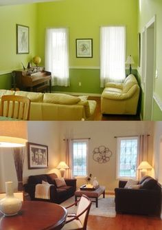 Before and after home staging in Greater Toronto Area by Home Transitions Inside and Out. #DIY, #homestaging