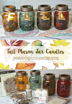 Easy Fall Mason Jar