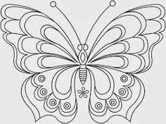 Resultado de imagen de dibujos de mariposas para bordar