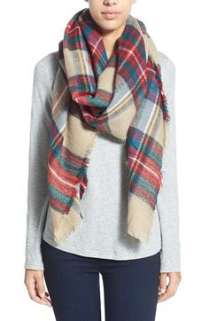 Renee's Accessories Plaid Woven Wrap | Nordstrom