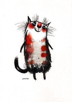 Сообщество иллюстраторов | Иллюстрация кошка Белка.
