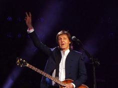 Paul McCartney in concert on Oct. 13, 2015 at Nationwide Arena in Columbus, Ohio.