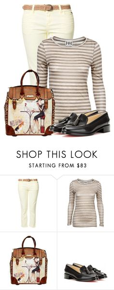 """""""Untitled #12750"""" by nanette-253 ❤ liked on Polyvore featuring Best Mountain, Haute Hippie, Nicole Lee and Christian Louboutin"""