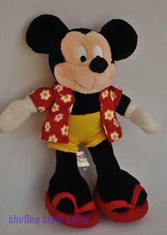 Disney Cruise Line Mickey Mouse Plush Stuffed Animal Vacation Bean Bag Toy Soft