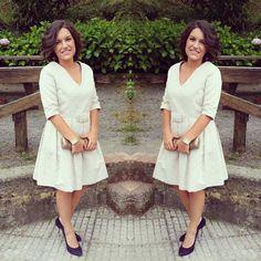 Coral se va de boda!! Para la ocasión ha escogido un vestido de corte princesa realizado a medida por #isabelarango #boda#atelier#amedida