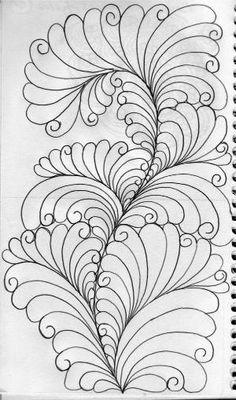 LuAnn Kessi: Piggy Back Feather Design by robyn