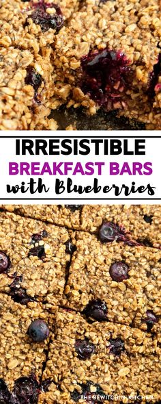 Breakfast Bars with Blueberries are a family favorite treat. They are simple to make, easy to grab on the go, and taste amazing. Blueberry Breakfast, Breakfast Bars, Breakfast Ideas, Breakfast Recipes, Bar Recipes, Brunch Recipes, Real Food Recipes, Snack Recipes, Quick Healthy Lunch