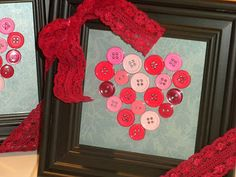 Button Heart Frame - Preschool Teacher Gift for Valentine's Day.