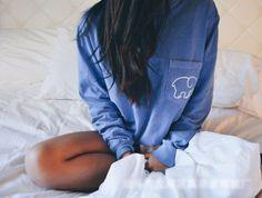 2016 Trending Fashion Women Popular Blue Ivory Ella Cartoon Elephant Printed Floral Printed Long Sleeve Top T-Shirt
