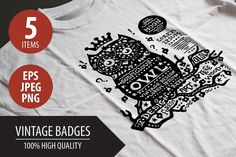 Vintage Badges by Decorwith.me Shop on Creative Market