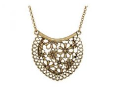 Lucky Brand Lace Pendant Necklace (Gold) Necklace