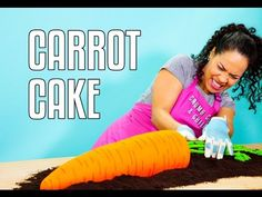 It's CARROT CAKE inside a GIANT CARROT CAKE!! Watch me cake a Giant Carrot Cake - just in time for Easter - on my YouTube channel!!