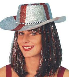Glitter Cowboy Hat St. George's. A popular choice to wear this Rugby World Cup. http://www.novelties-direct.co.uk/glitter-cowboy-hat-st-georges-england-12.html