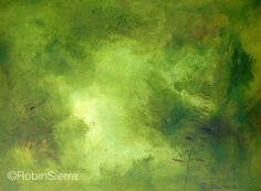 """Viriditas III by Robin Sierra  This painting is from a series that was inspired by Hildegard of Bingen, an 11th century mystic who created the word 'viriditas' which to her meant a nourishing greening power, fruitfulness, creativity. Creativity being greening power in motion, making all things new, grow, expand and celebrate.  """"I am the breeze that nurtures all things green. I encourage blossoms to flourish with ripening fruits, I am the rain coming from the dew that causes the grasses to…"""