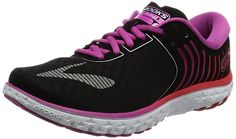 brooks Women's Pureflow 6 Running Shoes, Multicolor (Black/Roseviolet/Bittersweet), 4 UK Road Running, All About Shoes, Partner, Running Shoes, Sandals, Boots, Heels, Sneakers, Link