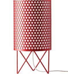 GUBI // Pedrera ABC Table Lamp in red by Barba Corsini & Joaquim R. Millet