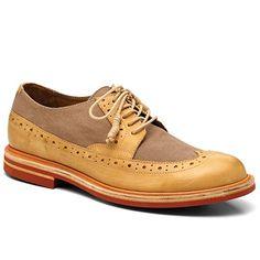 89387d5cbf23 J Shoes Foxton Men s Brown Cork Leather Canvas Brogues D4703 9 UK