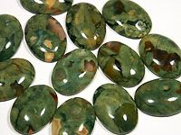 Rainforest Jasper - Also known as Ryolite. This stone is really pretty with unique green and semi-translucent markings. I like to think of it as 'Tree Frog Jasper'.