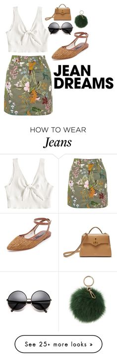 """blue jeans - lana del rey"" by keeleyoleksy on Polyvore featuring Topshop, Zolà, Coccinelle, Mulberry and denimskirts"