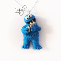 Cookie Monster necklace by Ruby-creations.deviantart.com on @DeviantArt