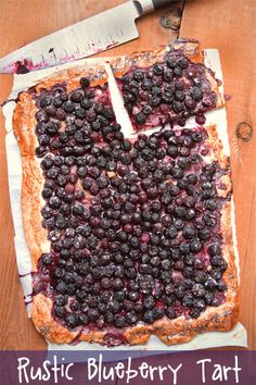 Another great recipe from @Greg Henry | Sippity Sup Blueberry Flat Tart (or Blueberry Pizza!)