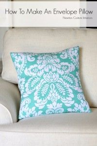 Sewing Projects for The Home - How To Make An Envelope Pillow  -  Free DIY Sewing Patterns, Easy Ideas and Tutorials for Curtains, Upholstery, Napkins, Pillows and Decor http://diyjoy.com/sewing-projects-for-the-home