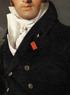 Portrait of Charles-Joseph-Laurent Cordier by Jean Auguste Dominique Ingres, 1811, detail.