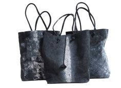 Leather - Unexpected effects Design Valérie Barkowski ***One of a kind bags***