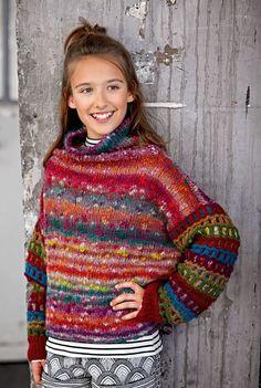 Lana Grossa PULLOVER Colorato Nodo/Alta Moda Alpaca - FILATI Teens No. 7 - Modell 15 | FILATI.cc WebShop