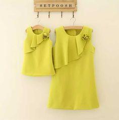 ست پیراهن یقه چین دار مادر و دختر در فروشگاه اینترنتی ست پوش. برای مشاهده نمونههای بیشتر ست لباس مادر و دختر به وبسایت ست پوش مراجعه کنید.