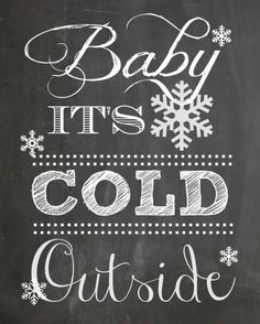 Winter decor inspiration from HOMEWARDfound Decor (chalkboard image sourced from Pinterest; original is property of http://www.everydayhomeblog.com/2014/01/four-winter-diy-projects.html)