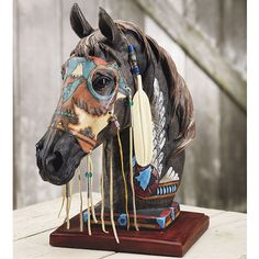 Wolf Spirit Horse Statue - Horse Themed Gifts, Clothing, Jewelry and Accessories all for Horse Lovers | Back In The Saddle