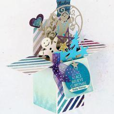 Happy Holidays Card In A Box  Handmade Christmas by CARDSBYMOM