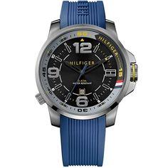 Relógio masculino Tommy Hilfiger com pulseira de silicone azul - 1791010