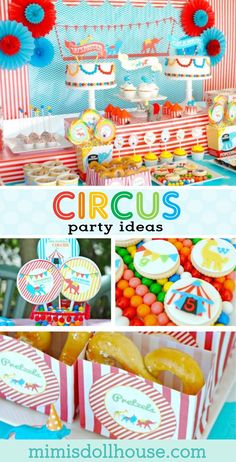 Circus Party: Come one, come all to the Birthday Circus. Step right up for a Birthday Circus Party! Be sure to check out all our Circus Party Ideas! via Kids party ideas Circus First Birthday, Circus 1st Birthdays, Twin Birthday Parties, Kids Birthday Themes, Carnival Birthday Parties, First Birthdays, 4th Birthday, Combined Birthday Parties, Boys First Birthday Party Ideas
