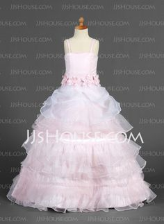 Flower Girl Dresses - $136.69 - A-Line/Princess Floor-Length Organza Satin Flower Girl Dress With Sash Flower(s) (010014655) http://jjshouse.com/A-Line-Princess-Floor-Length-Organza-Satin-Flower-Girl-Dress-With-Sash-Flower-S-010014655-g14655