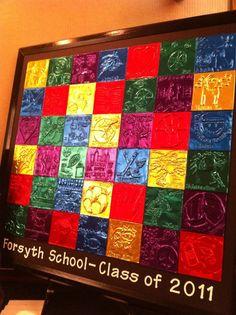 Project idea for classroom auction. Glue design under foil?