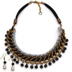 Collar Luxor | Dulce Encanto accesorios para mujer  Compra tus accesorios desde la comodidad de tu casa u oficina en www.dulceencanto.com #accesorios #accessories #aretes #earrings #collares #necklaces #pulseras #bracelets #bolsos #bags #bisuteria #jewelry #medellin #colombia #moda #fashion