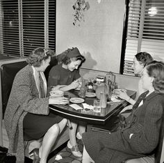 Night Out: 1941.  I can my Mama and her friends doing something just like this!  Now they would all be in their nursing uniforms maybe...