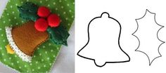 10 Enfeites de Natal em Feltro com Moldes - Casa e Festa