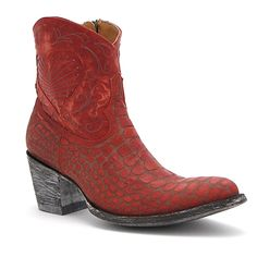 "Old Gringo 7"" Red Vigevano Boot at Maverick Western Wear"
