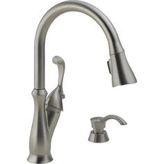 Delta Single Handle Pull Down Kitchen Faucet With Soap Dispenser Faucets Indoor Plumbing Osh Categories