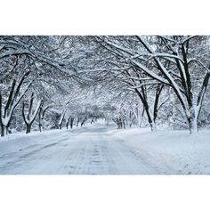 snow tunnel ❤ liked on Polyvore featuring backgrounds, pictures, winter, snow and places