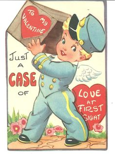 For The Love of Old Junk And Other Treasures: Happy Valentine Vintage Valentines # 5 and # 6